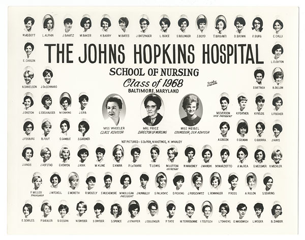 [Johns Hopkins Hospital School of Nursing, class of 1968