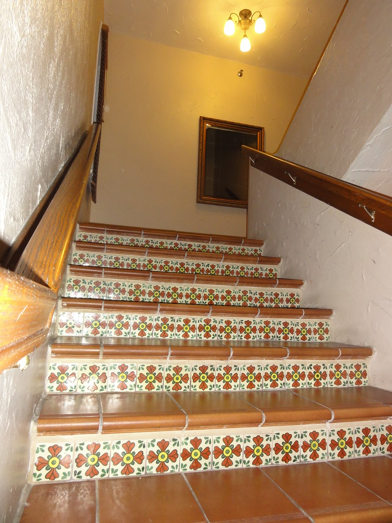 Stairs with Spanish Ceramic Tile Design