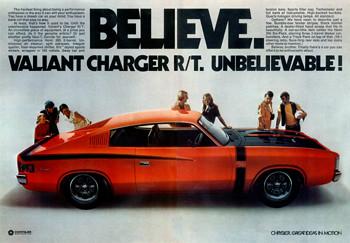 1971 Chrysler VH Charger RT E38 Ad  Australia  Covers