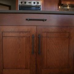 Kitchen Cabinet Door Vinyl Floor Tiles Craftsman Style Cherry | Typical Stile & Rail ...