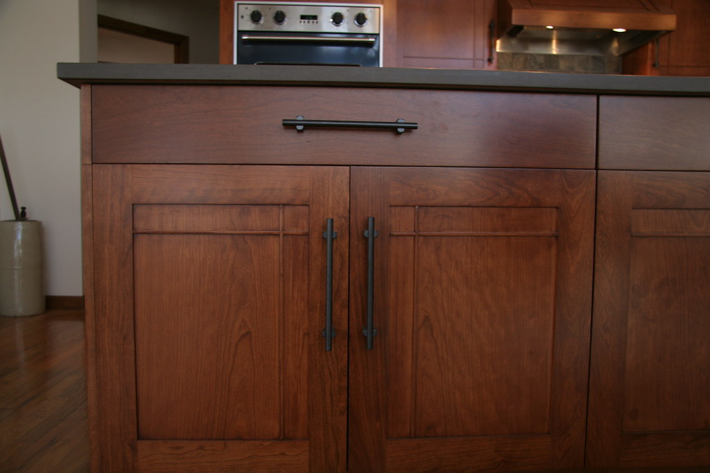 kitchen door hardware modern island lighting craftsman style cherry | typical stile & rail ...