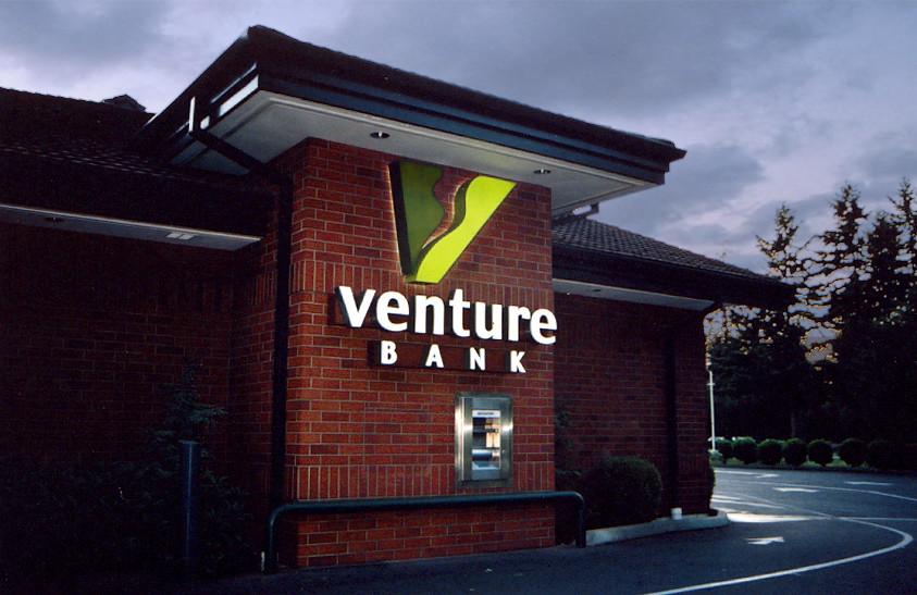 Exterior Bank Branding  Bank Drive thru Signage  Exterio