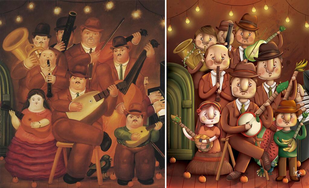 Los Musicos releitura de Fernando Botero  Los Musicos