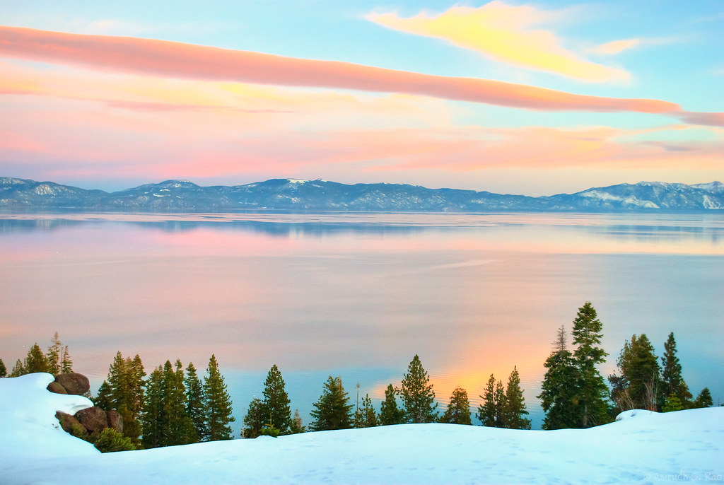 Tahoe Sunset Soft Sunset Hues Color The Evening Sky Over