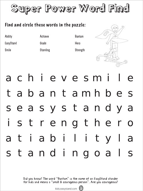 Capable Kids Clubhouse Super Power Word Find