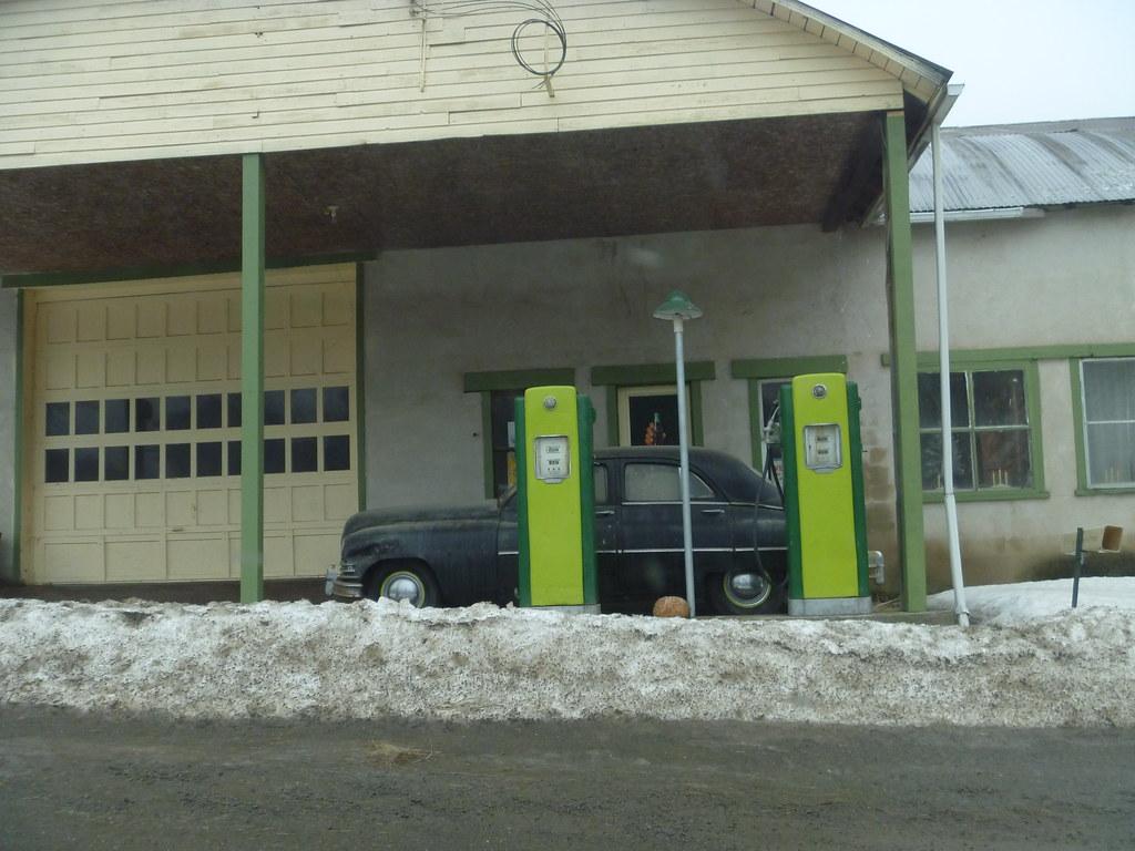 Classic Car At Abandoned Garage Shunk PA  Sullivan