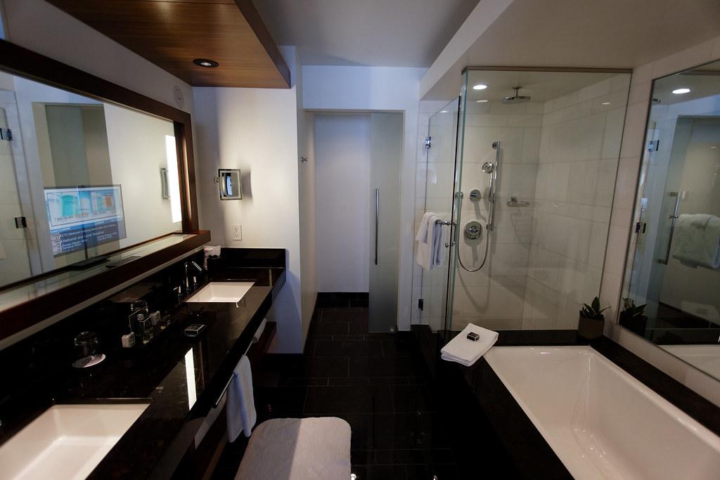 Fairmont Pacific Rim Hotel Bathroom  The newest Fairmont