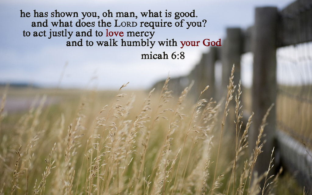 Micah 6 8 Wheat 1280x800  A desktop wallpaper with Micah