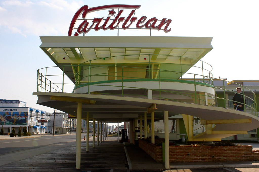 Caribbean Motel Wildwood NJ  Googie Capitol of the East