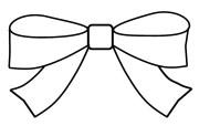 bow clipart outline colour