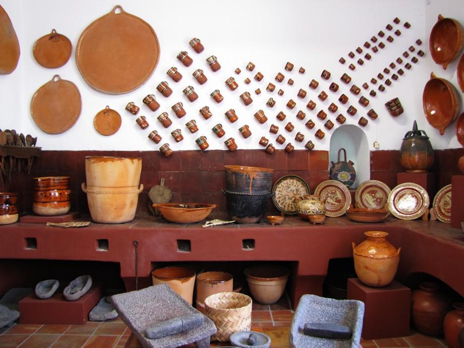 Cocina tradicional mexicana  Museo de la ceramica en San