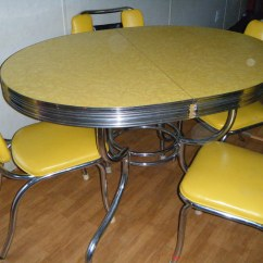1950s Formica Kitchen Table And Chairs Lowes Remodeling Yellow Garage Sale | Need A Redo But ...