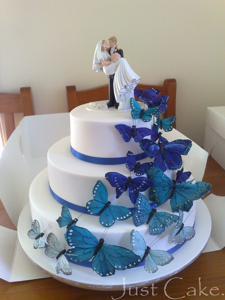 Butterflies Wedding Cake Quicky Photo With My Phone This