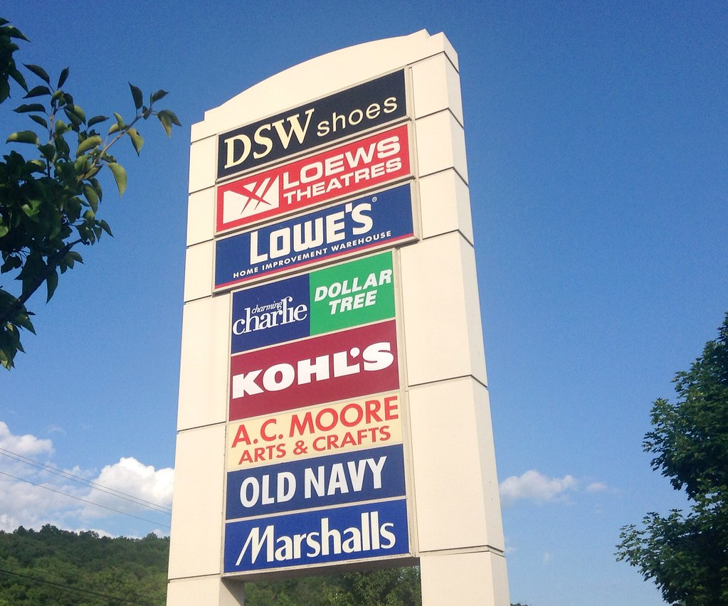 Shopping Plaza Sign 62014 Plainville CT DSW Lowes K