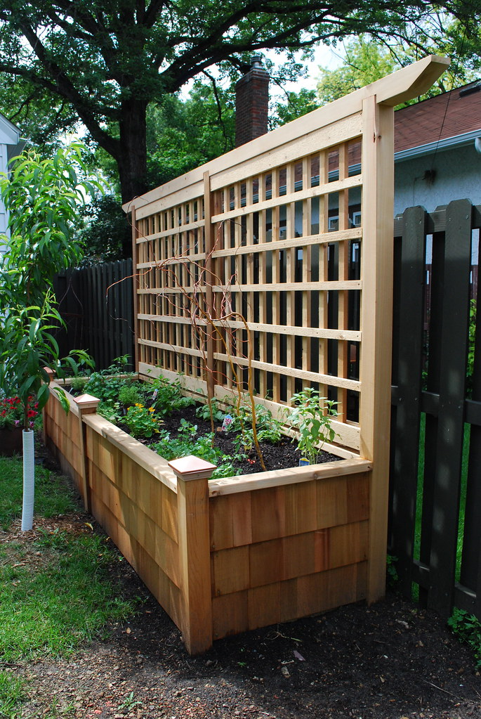 Raised planter with trellis  Field Outdoor Spaces  Flickr