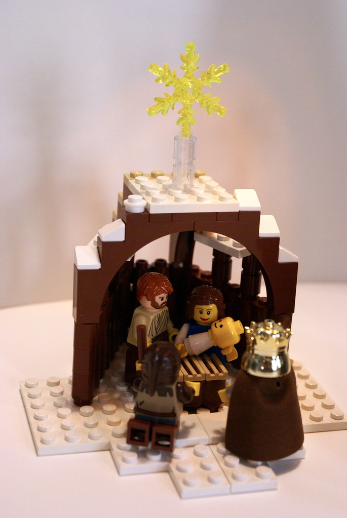 LEGO Nativity Scene A Shepherd And King Wise Man Visit