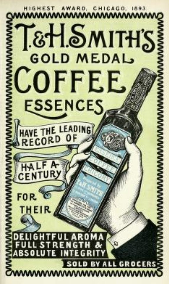 Vintage Victorian Advert for T  H Smiths Coffee Essence