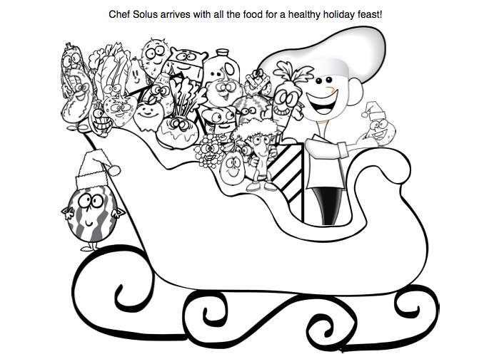 Holiday Nutrition Printables- Free Healthy Coloring Pages