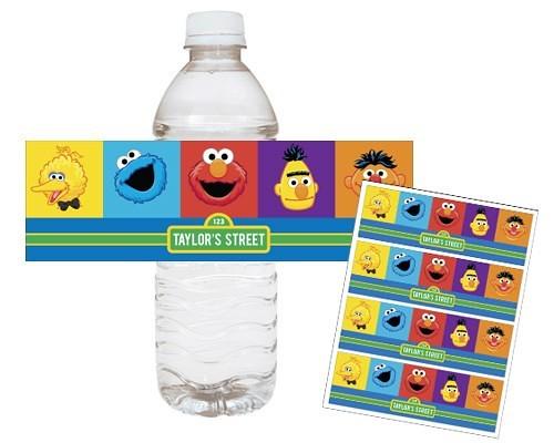 Sesame Street Elmo Cookie Monster Printable Water Bottle