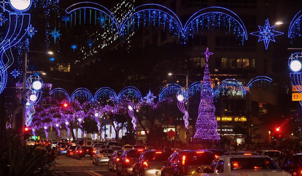 Christmas Decoration On Orchard Road Singapore