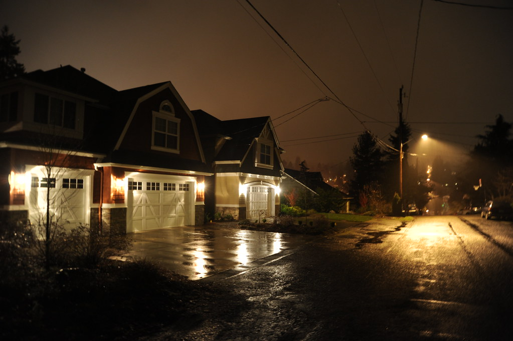 Night Drizzle In The Neighborhood Contemporary Dutch Colo