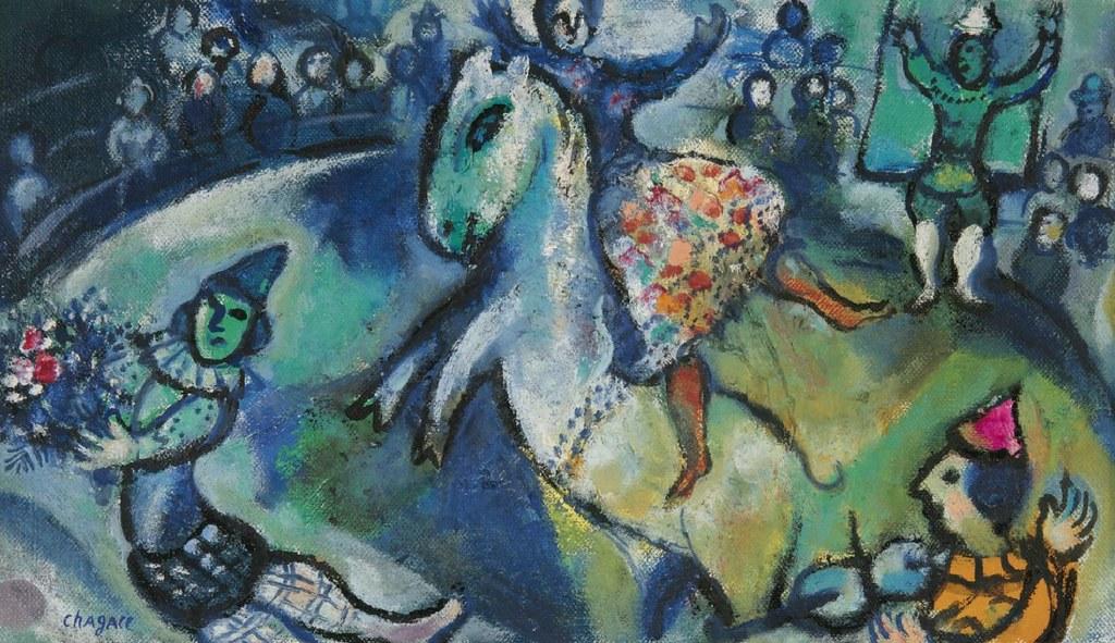 C  Marc Chagall  Scene de Cirque 1958  Dedicated