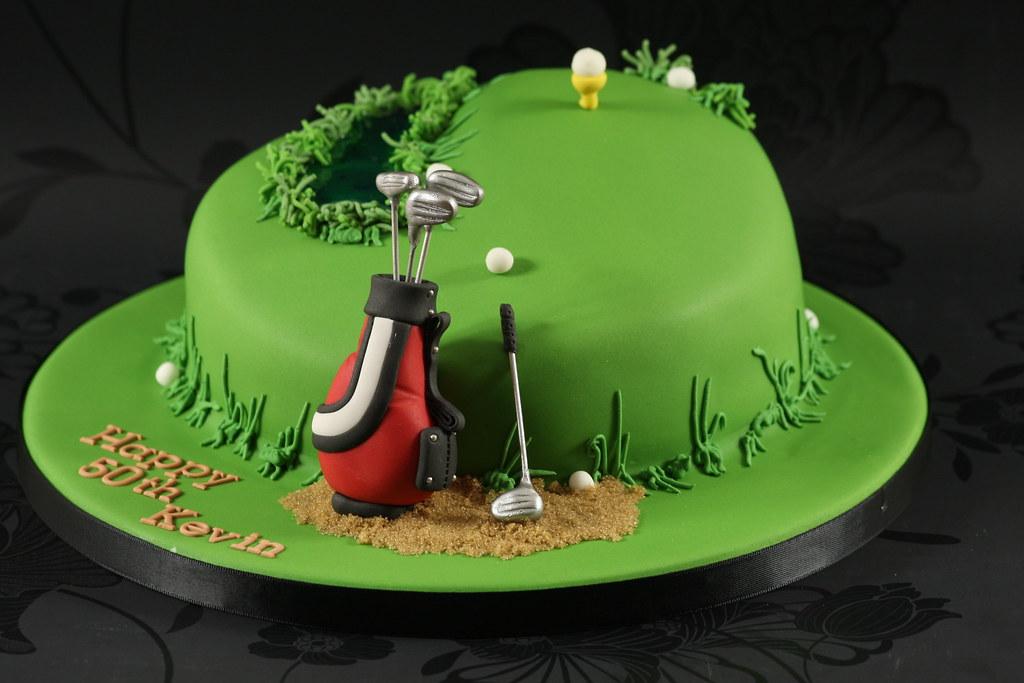 Golf Theme Cake Made For A Golfers 50th Birthday Im