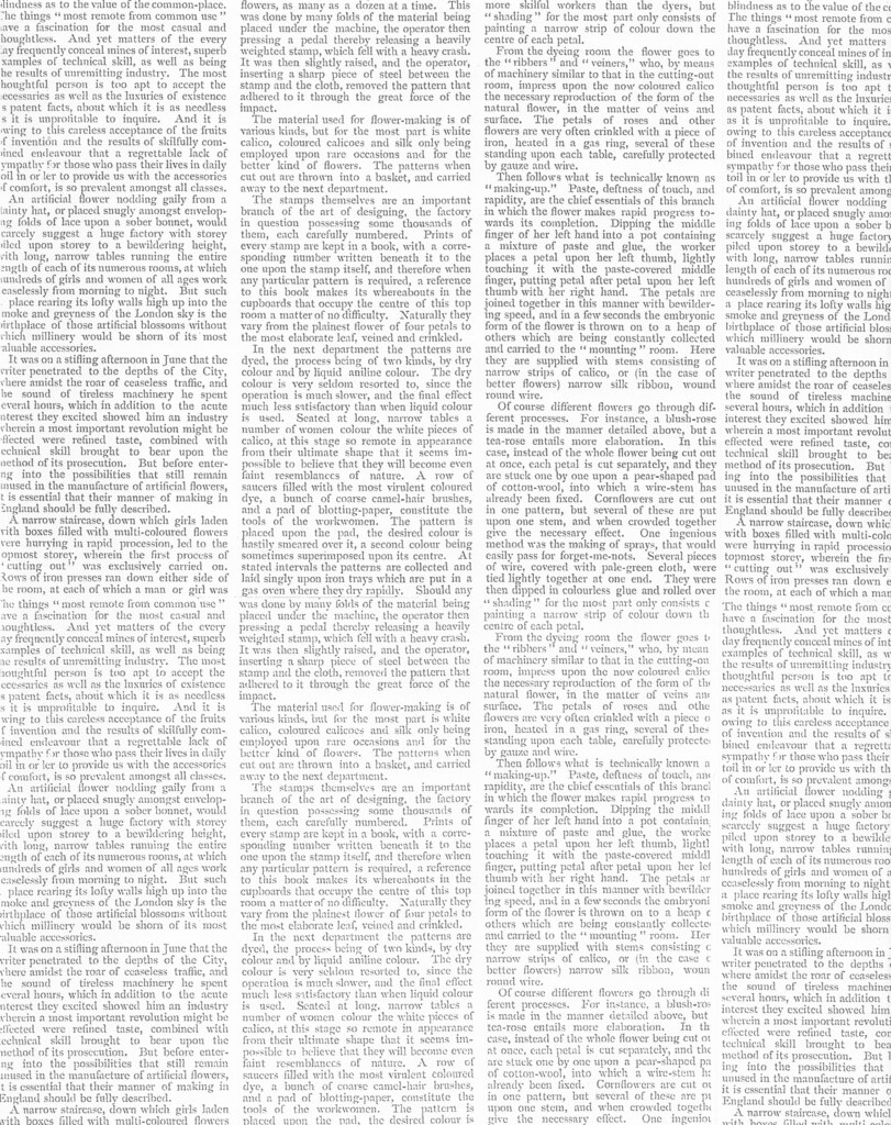 silk flower manufacturing text paper  This is a scan of