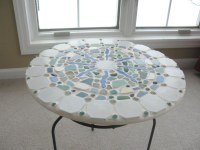 sea glass pottery table | Greek sea glass and beach ...