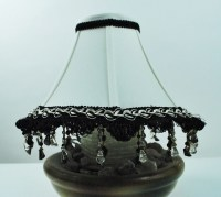 Elegant mini lamp shade with rhinestone beaded trims ...