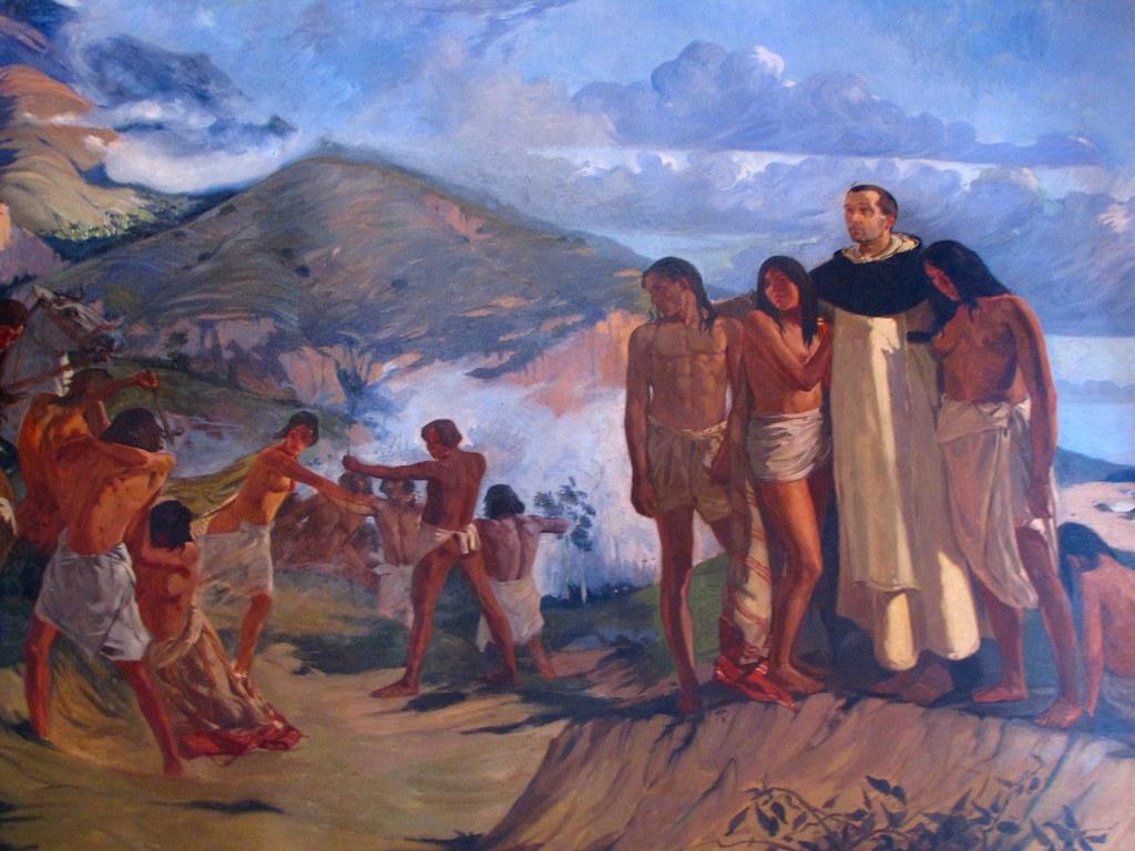 Cuadro Detalle Fray Bartolome De Las Casas Junto A Indi