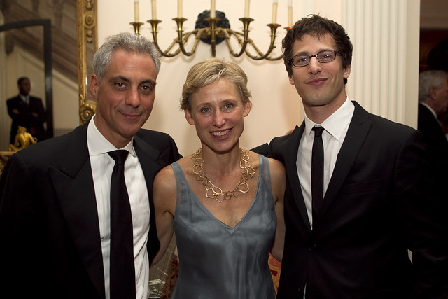 Rahm Emanuel Amy Rule And Andy Samberg Flickr Photo