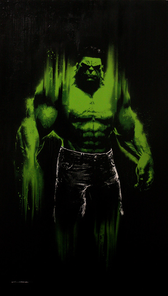 The Hulk  This painting of the legendary Marvel Character