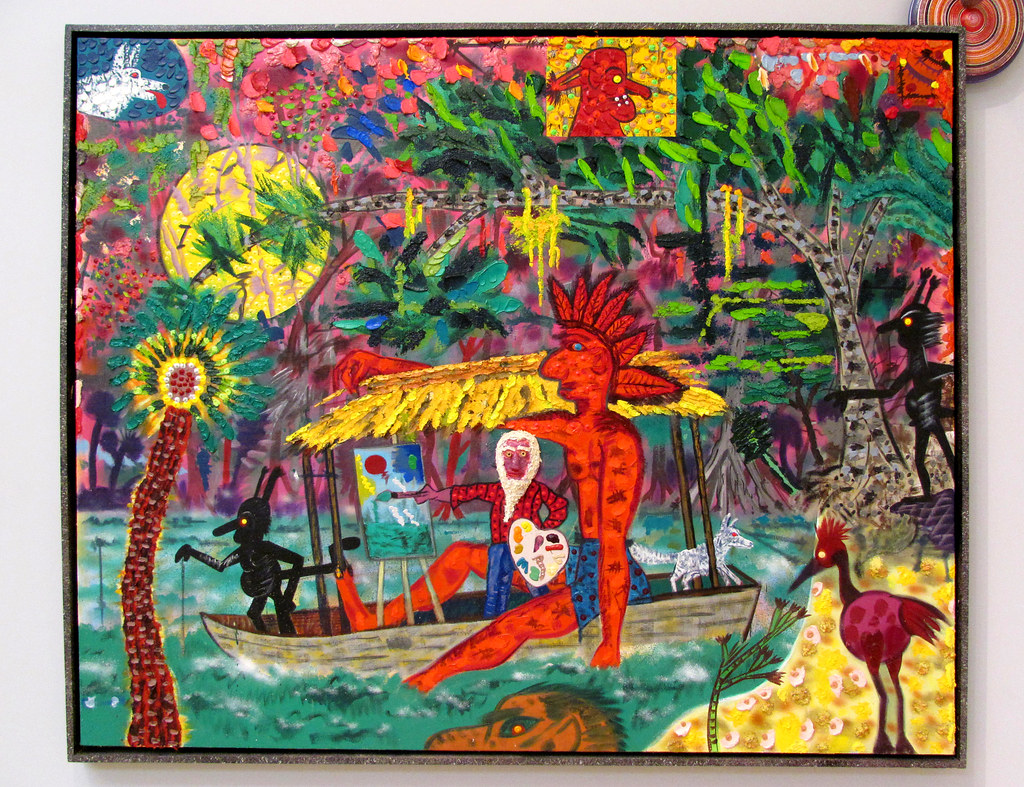 Roy De Forest  Rainforest Painter 1996 Polymer on