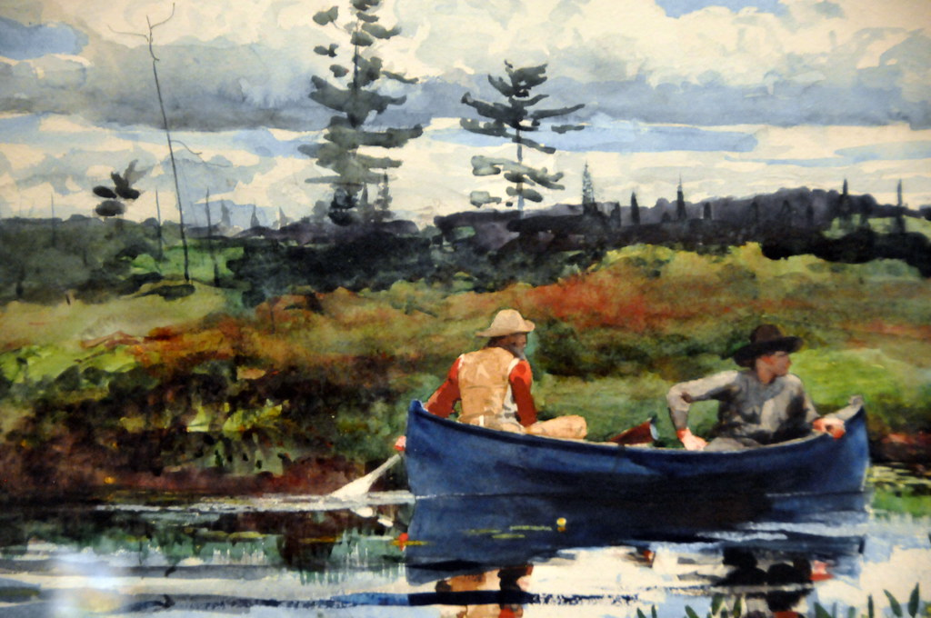 Winslow Homer  The Blue Boat at Boston Museum of Fine Art
