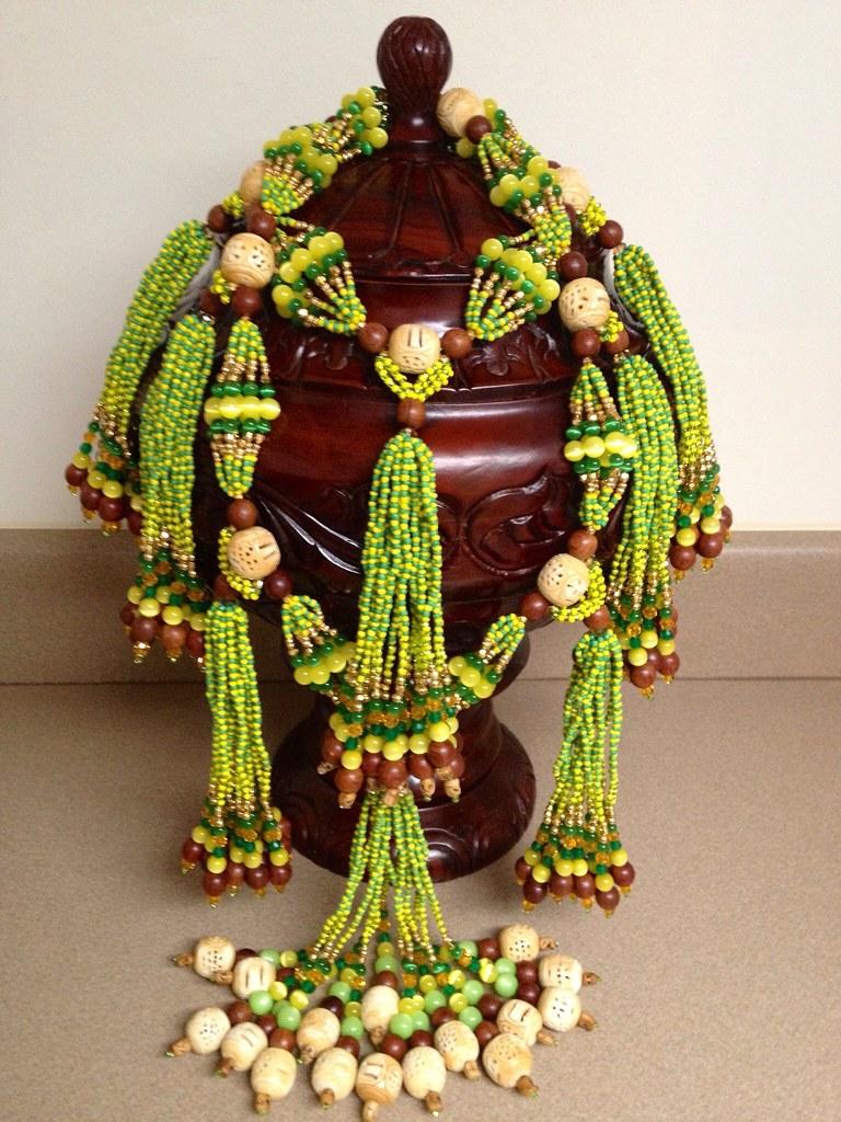 Mazo para Orula con 8 moas  Collar de Mazo para Orula