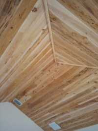 Pecky Cypress tongue and groove vaulted ceiling ...
