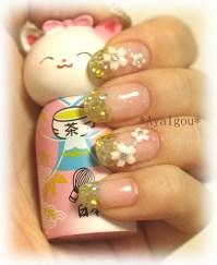 Holiday shine nail art | My own nails Base gel, Glitter ...