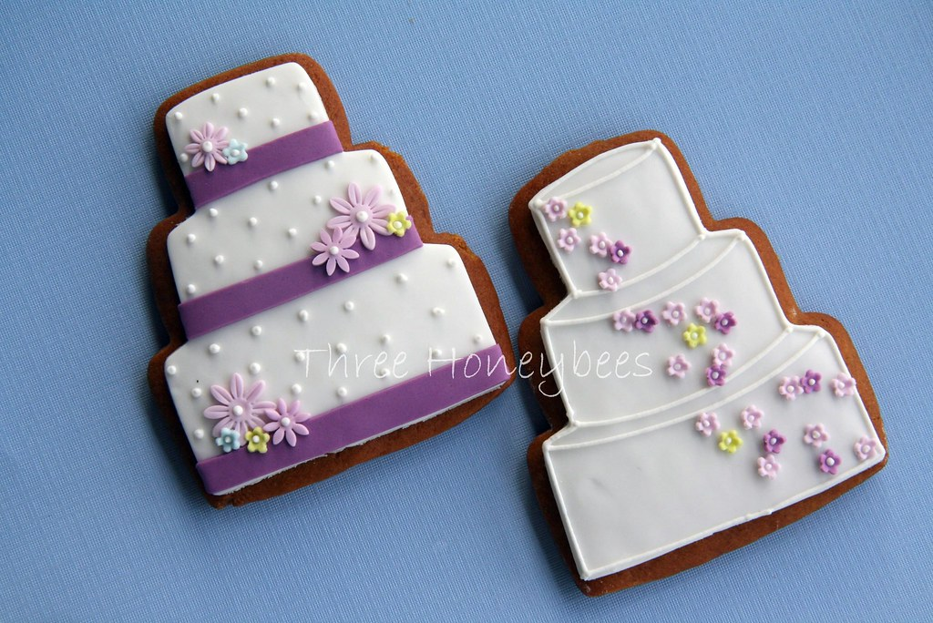 Purple Shades Wedding Cake Cookies I Made These For A