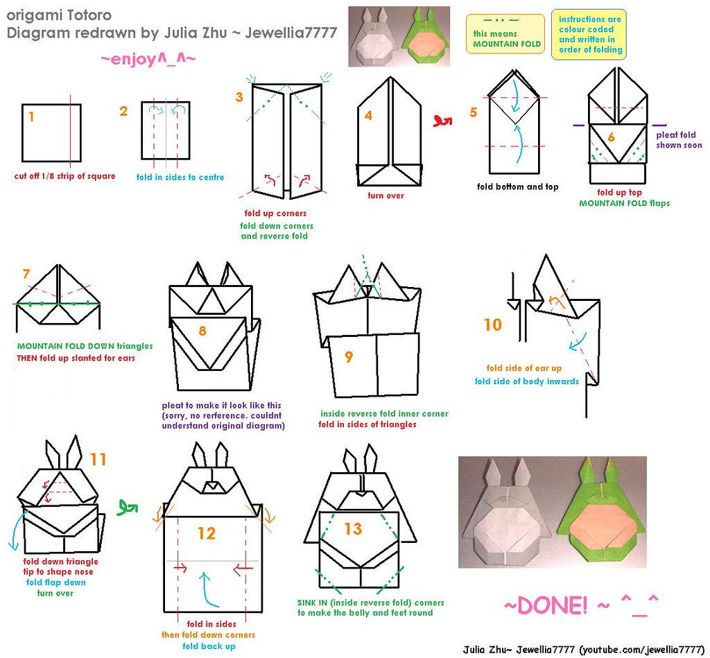 origami flower diagram in english farmall super a wiring redrawn totoro video tutorial by me here