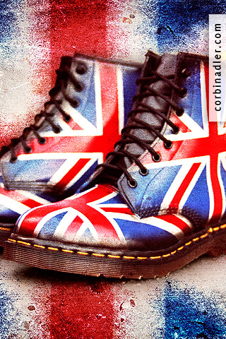 Girl With Wallpaper Dress Jack Boots 1 Union Jack Dr Martens Free Iphone Wallpap