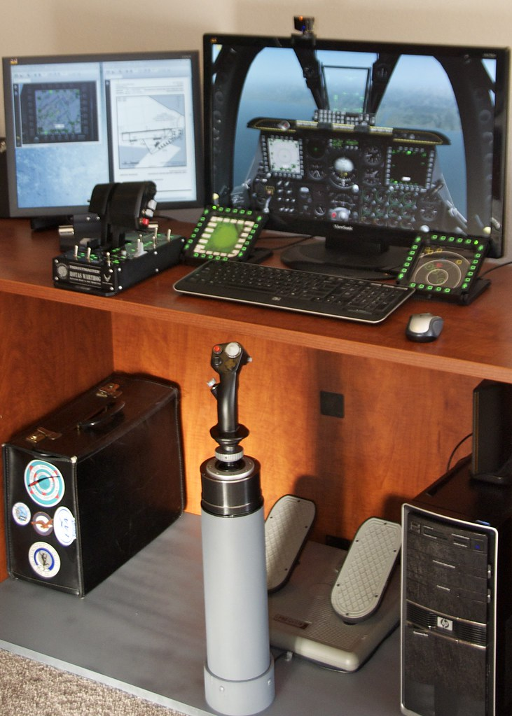 Flight Sim Joystick Mount  Needed a way to properly mount