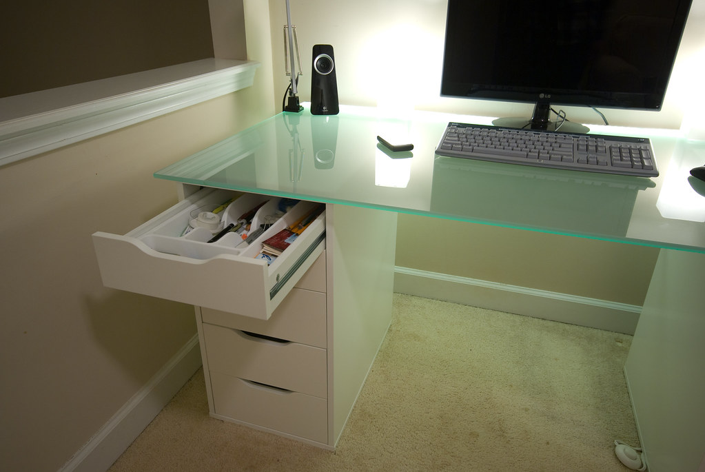 White Desk Drawers