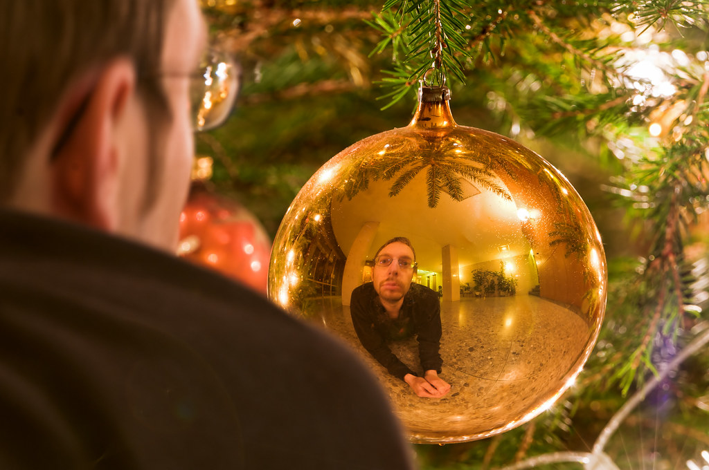 Christmas Ball Reflection Its Just A Little Fun I Had