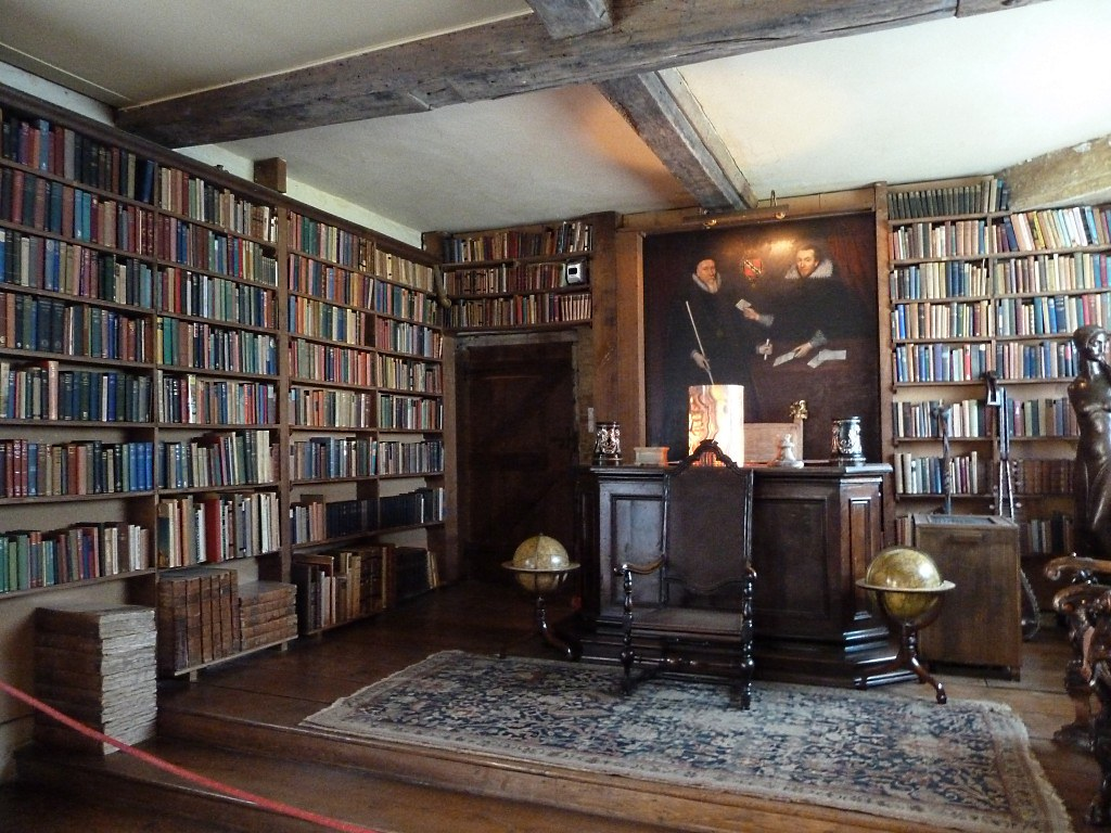 Library At Sissinghurst Long Room Completely Lined With