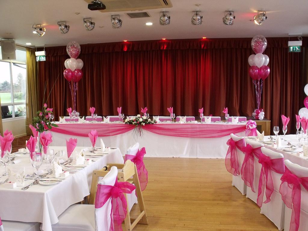 Hot Pink Wedding Decorations Done At The Fry Club, Keynsha