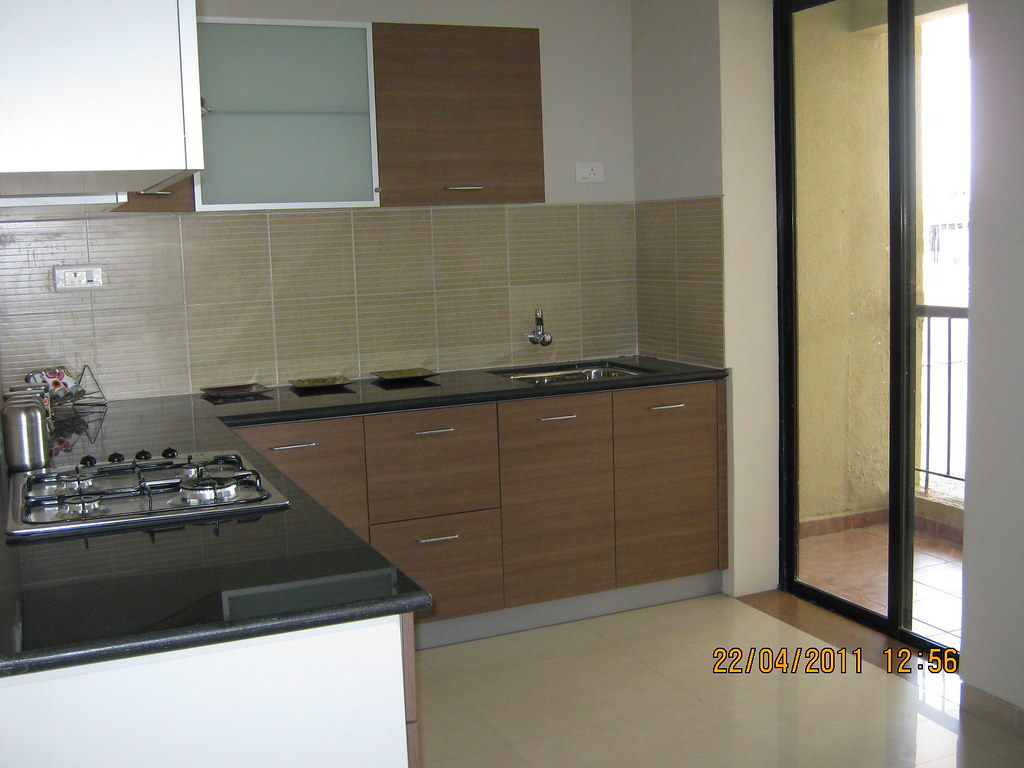 Spacious Kitchen  Dry Balcony in the sample flat at Park