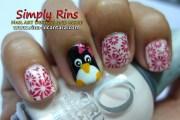 nail art penguin 05 rina alcantara