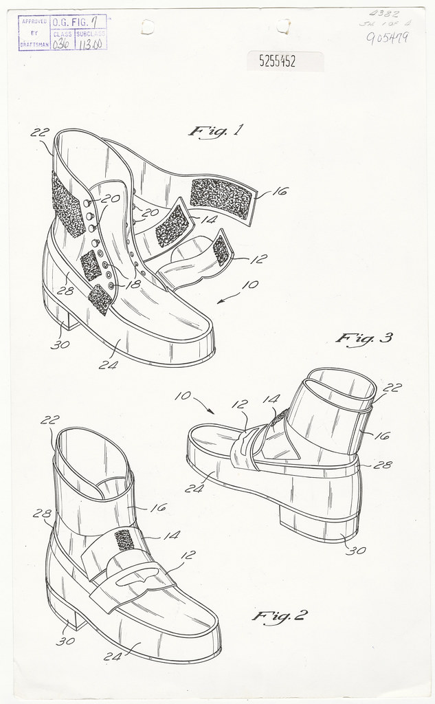 Michael Jackson's Anti-Gravity Illusion Shoes Patent Drawi