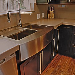 Base Kitchen Cabinets Dornbracht Faucet (800) 935-5524 Stainless Steel Apron Sink On Espresso Mapl ...